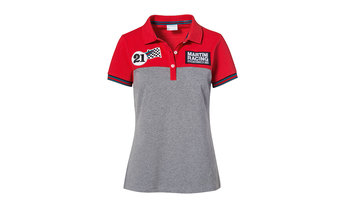 MARTINI RACING Kollektion, Polo-Shirt, Damen, rotgraumelange